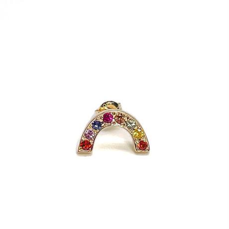 Rainbow pierced earrings -multicolorsapphire-