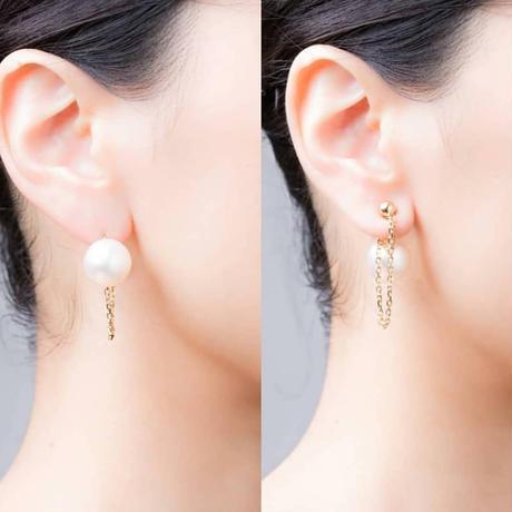 coron pierced earrings-pink-