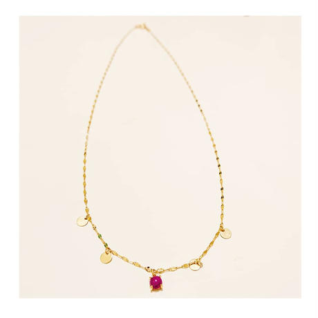 moon& star necklace K10-ruby-