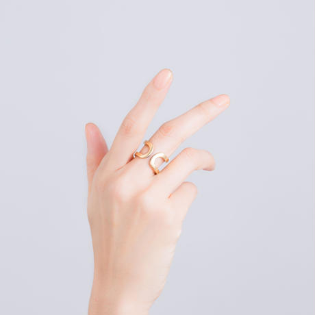 happiness of the loop ring-gold-