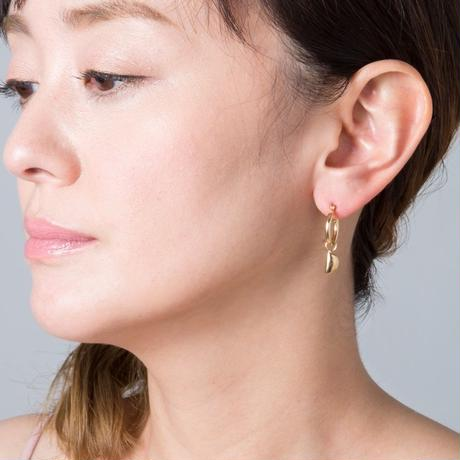 Phase of the moon earrings-silver 925セットdiamond &blackdiamond &pearl