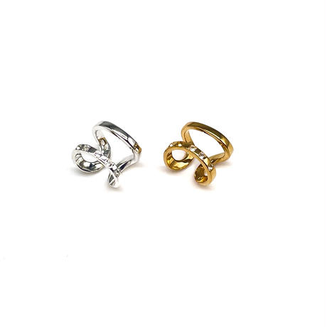 happiness of the loop earcuff white topaz