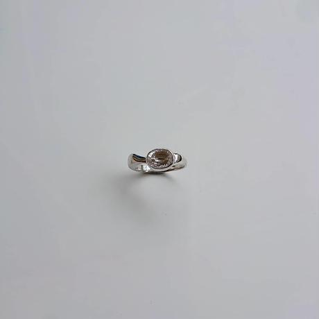 minamo ring-concave cut crystal-