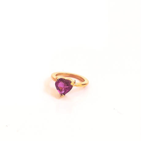 K18gold  Candy heart baby ring