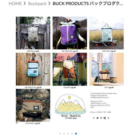 BUCK PRODUCTS バックプロダクツ アングレター BLACK  ハンドメイド ボーズマン 男女兼用 バックパック アウトドア PCバッグ リュック