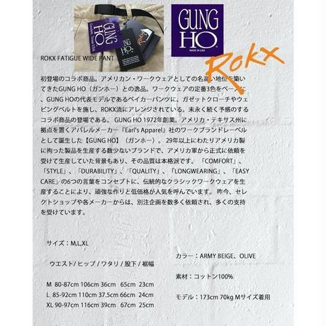 ワイドパンツ ROKX FATIGUE WIDE PANTS RXMS8891