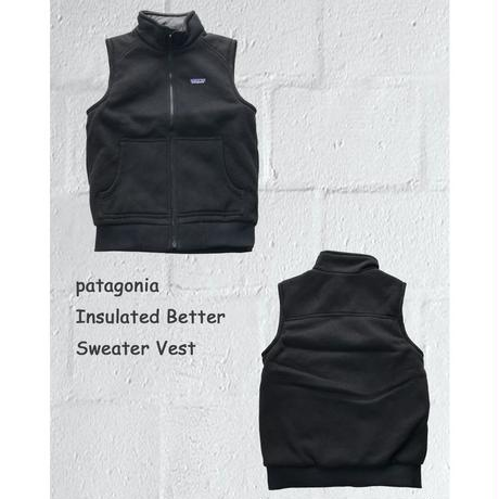 patagonia インサレーテッド ベターセーター ベスト ブラック Sサイズ INSULATED BETTER SWEATER VEST