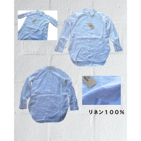 ダブルポケット リネンシャツ eterno エテルノ ユニセックス