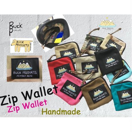BUCK PRODUCTS Zip Wallet  バックプロダクツ ハンドメイド ジップ ウォレット 財布 名刺入れ 小銭入れ カード入れ モンタナ ボーズマン アウトドア