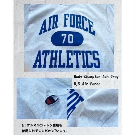 チャンピオン Body Champion Ash Gray Tシャツ USA企画 AIR FORCE ATHLETIC