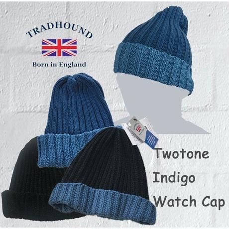 TRADHOUND Indigo Two Tone Watch Cap インディゴ ツートン ワッチキャップ