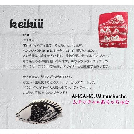 Keikiii ケイキイー ラフィー起毛裏毛 前V スウェット あちゃちゅむ ムチャチャ