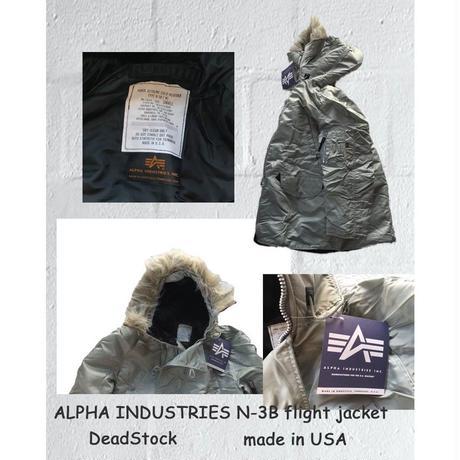 アルファ インダストリーズ N-3B ジャケット メンズジャケット フライトジャケット デッドストック ALPHA INDUSTRIES N-3B flight jacket made in USA