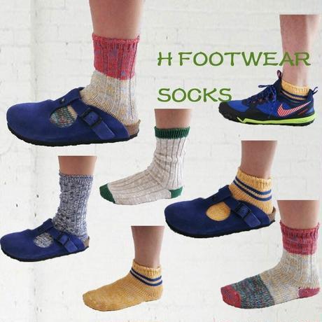 H FOOTWEAR SOCKS (エイチ フットウェア) ユニセックス フリーサイズコットン混合ソックス 靴下