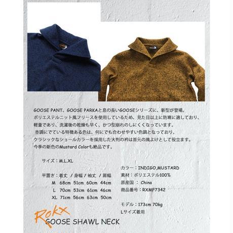 ROKX ロックス GOOSE SHAWL NECKグース ショール ネック
