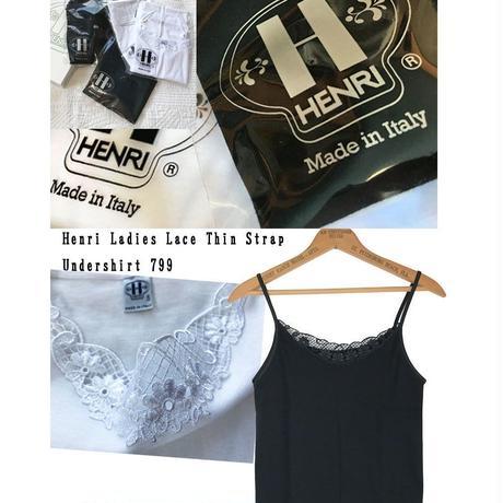 HENRI Ladies Lace Thin Strap Undershirt 799 アンリ タンクトップ キャミソール