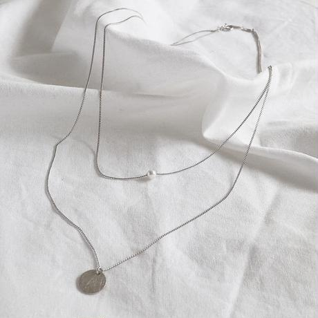 ラスト1 [silver925] pearl layered necklace