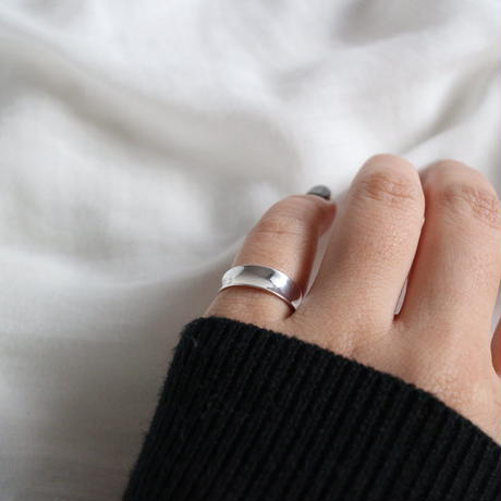 [silver925] curf pinky ring