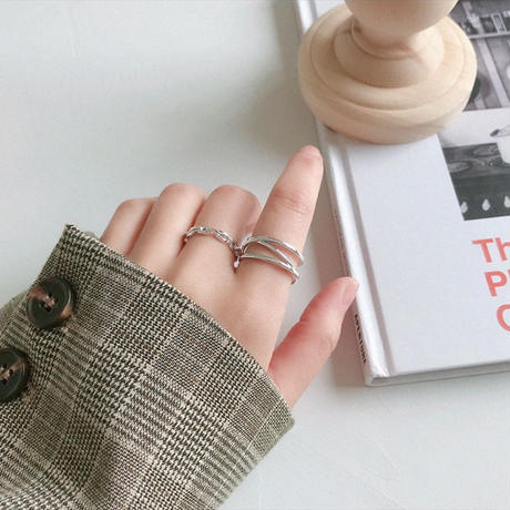 予約販売 [silver925] cross line ring