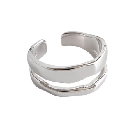 ラスト1 [silver925] double wave ring