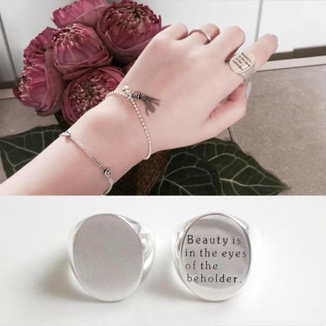 予約販売 [silver925] wide oval ring
