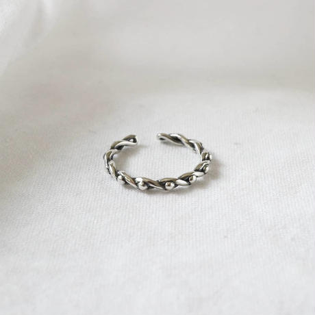 [silver925] slim twist ring