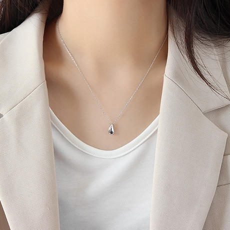 [silver925] water drop necklace