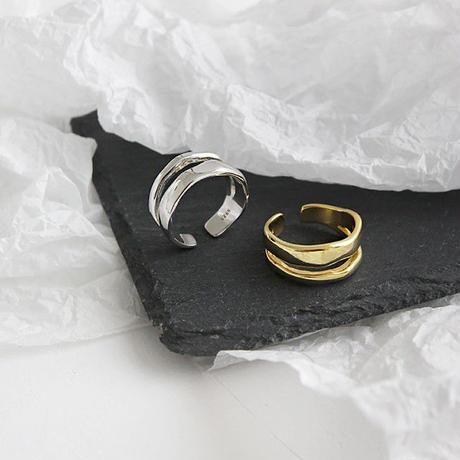 ラスト1 [silver925] double wave ring