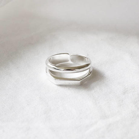 [silver925] double line ring