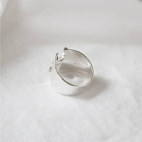 last1 [silver925] wide wave ring