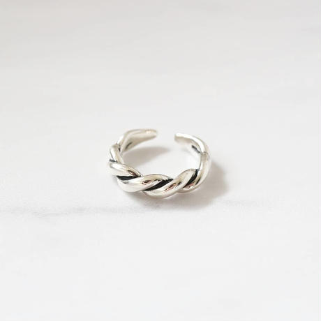 [silver925] wide twist ring