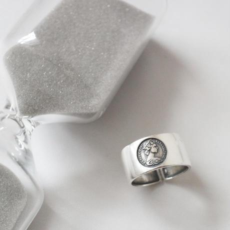 ラスト1点 [silver925] Coin design ring