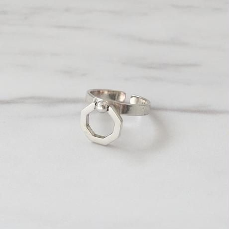[silver925] octagon ring