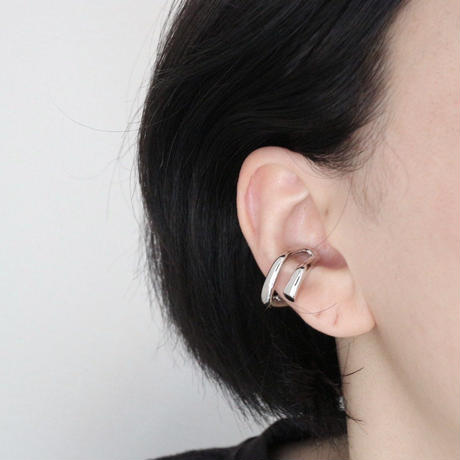 ラスト1 double circle earcuff