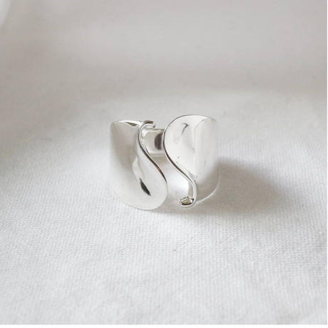 [silver925] wide wave ring