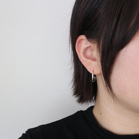 [silver925] twist hoop pierce