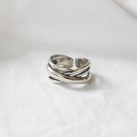 ラスト1 [silver925] cross line ring