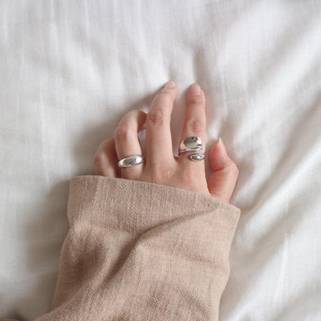予約販売 [silver925] wide wrap ring