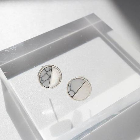 ラスト1 [silver925] oval marble plate pierce