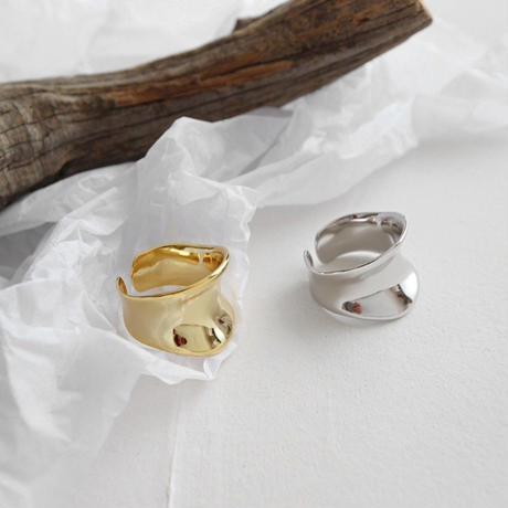 予約販売 [silver925] wide hollow ring