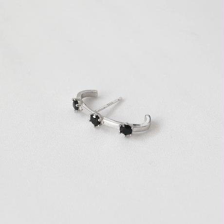 [silver925] black stone pierce cuff