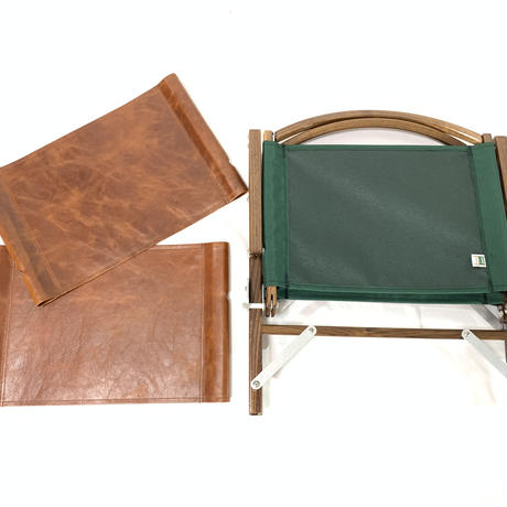 Kermit Chair Walnut + camel leather jacket
