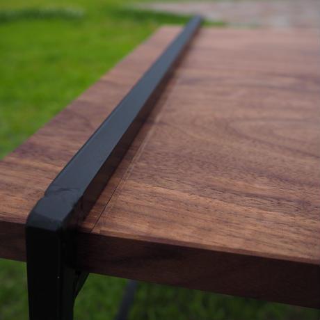 Walnut Iron Table