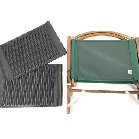 Kermit Chair Walnut + leather jacket(ダイヤモンドステッチ)