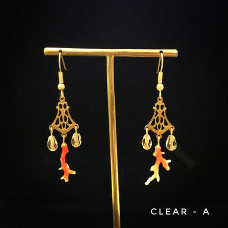 限定【サンゴ】Coral Branch Earrings
