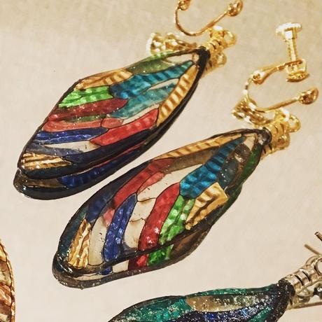 【蝉】Cicada Pierce - Stained Glass Red -
