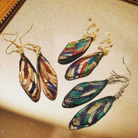【蝉】Cicada Pierce - Stained Glass Gold -