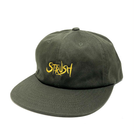 STRUSH WHEELS /   SCRIPT EMB 6PANEL CAP