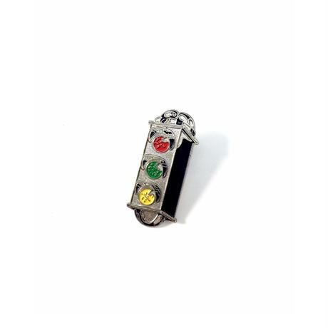 TRAFFIC / LIGHT CREST ENAMEL PIN