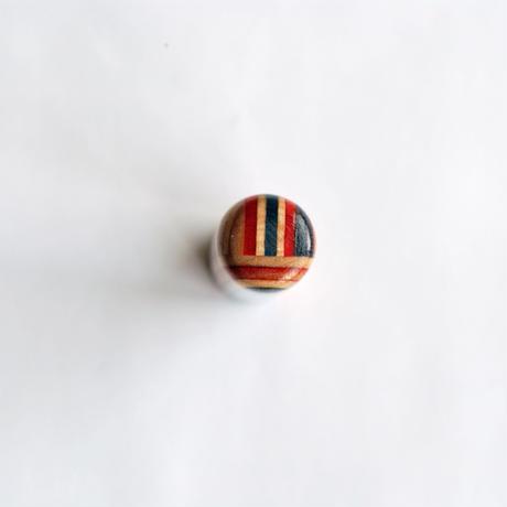 【SARUNO】スケボー廃材の印鑑(13.5mm)彫刻料とケース(黒のモミ革ケース付き)